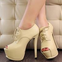 High quality 2014 new Open Toe High Heels Women Pumps Brand New Design shoes women sandals!!Free PP