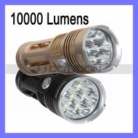 SecurityIng Waterproof Flashlight 10000 Lumens 7 x CREE XM-L T6 LED Flashlight Aluminum Torch