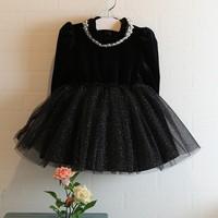 2014 Girls autumn sweet gauze tutu dress , princess dress , kids clothes girls , 5pcs/lot  FQM01