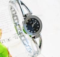 Retail Sale! New Simple Crystal Bracelet Watch Fashion Women Girls Business Elegant Dress Analog Quartz Wrist Watches 155148