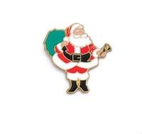 25.4mm, Father Christmas pins,metal pin,1pcs/opp bag, iron,brass plate,painted and epoxy,customized, MOQ300pcs, fee shipping