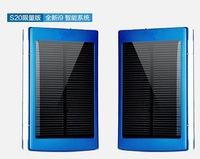 10000mAh Solar Power Bank Solar Battery Dual USB Port Mobile External Battery with USB Cable for iPhone 4S 5S Samsung S4 S5 HTC