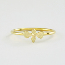 30pcs/Lot Free Shipping Honey Bee Ring in Solid 18K Gold, Jewelry Ring For Women wholesale
