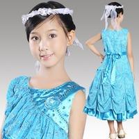 Female Children Formal Evening Dress For Wedding Fashion Princess Vestido de Daminha Flower Girl Dresses
