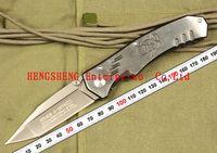 EXTREMA RATIO F-35 Flat Edge Folding knife Pocket Hunting Knives 440C 58HRC Plating Gray Titanium Blade All-Steel Handle