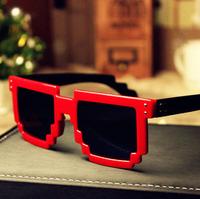 T09 2014 vintage personality mosaic sun glasses general fashion sunglasses trend 5Pcs/Lot  Free Shipping