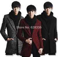 2014 New Style Men Winter Male Korean Slim Models Thick Woolen Long Men Wool Outerwear Male Trench Overcoat Coat Jacket Casaco