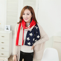 1 piece New Stars Wool Female Coarse Woolen Thickened Couple Warm Knitted Scarf Shawl Women Gift, Item No.: 509