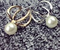 Delicate Temperament Full Cross Ring Inlaid Pearl Ring Opening
