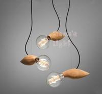 coconordic Scandinavian designers mango wood bar table lamp chandelier decorative lights  free shipping