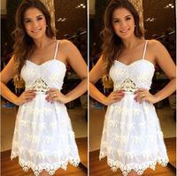 7 New spring Summer 2015 women sexy lace Dress Vintage Digital party Vestidos Femininos club vestido de festa Casual Dress