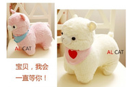 Free Shipping 2015 Happy New Year sheep toy Gift sheep Plush Doll Christmas Gift 4 colors to choose