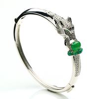 Fashion fashion  bangle natural chalcedony egg noodles silver bracelate inlaying 925 sterling silverWomen belt certificate