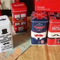 Free Shipping!5pcs/lot UK Style Painted Dispenser Box Coin Saver Tall Storage box Candy Storage Case London Style Iron Gift Box