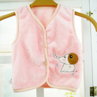 New Newborn Baby Vest Clothes Baby Warm Vest Coral Fleece Soft Clothes Outwear Waistcoat Kids Animal Baby Winter Vest Boy & Girl