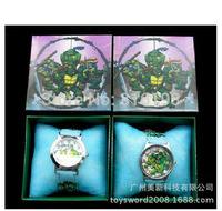 Free Shipping 5pcs 3D Cartoon Teenage Mutant Ninja Turtles Wristwatch Kids Lovely Fashion Watches Children Watch With Gift Box