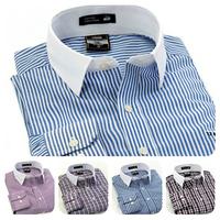 Speical Offer for Christmas 2014 Men's Dress Shirts Business Casual Long-Sleeved White Collar Shirt  Fashion Boss Shirt for Men