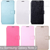 Case For Samsuang Galaxy Note 3 Silk Print Phone Protect Flip Cover PU Leather+PC Top Quality Phone Shell For Note3 Hot 0518