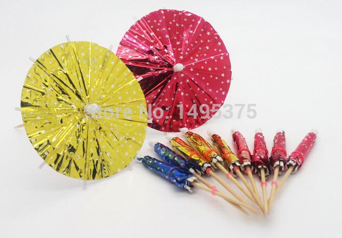 Free shipping 14400 pcs/lot christmas Cocktail Parasols Umbrellas drinks picks wedding Event & Party Supplies Holidays sticks(China (Mainland))