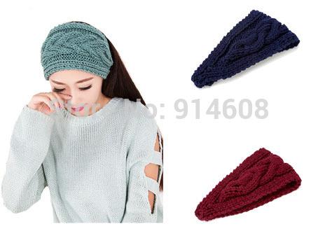 Fashion New Crochet Twist Knitted Headwrap Headband Winter Warmer Hair Band for Women Accessories(China (Mainland))