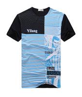 2014 summer new men's short-sleeved t-shirt men's round neck t-shirt top brand t-shirt
