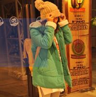 2014 women's Cotton padded jacket long section Korean dress lamb plush new winter cotton padded jacket thicker winter in female