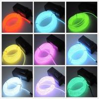 1pcs  3M Flexible EL Wire Neon Light for Dance Party Car Decor+Controller