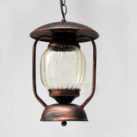 American Retro Bar and Cafe creative lighting fixtures tea shop aisle kerosene lantern iron chandelier