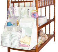 Baby crib bed hanging sorting storage nappy bag and pacifier wet tissue waterproof bag