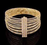 High Fashion Multi Circle with Rhinestone Bracelet