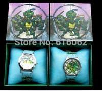 Free Shipping DHL140pcs New style Cartoon Teenage mutant ninja turtles Wristwatch Kids Watches Children Watch With Gift Box