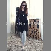2014 new round swing single buckle Slim long-sleeved shirt dress in winter
