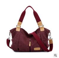 2014 bag for woman fashion big canvas shoulder bags lady handbag free shipping