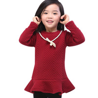 New Arrival Fashion Winter Baby Dress Red Lori Beautiful Princess Dress for 2-5y Free Shipping