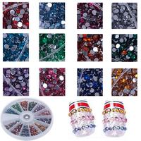 3600pcs Glitter Small Nail Sticker Art Tip Glitter Rhinestones Slice Decorations Manicure#57636