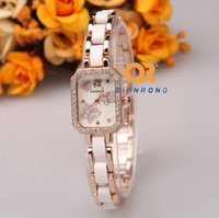 women dress watches female new ceramic watch enamel temperament leisure fashion elegant analog crystal rhinestone wrist watch