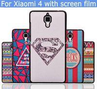 Lovely cartoon Girl diamond cute Eiffel Tower hard plastic case cover for Xiaomi 4 MI M 4 MI4 M4 with screen film