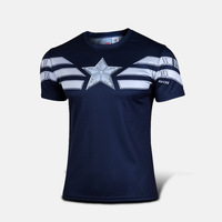 Free shipping Captain America t shirt The Avengers Steve Rogers men sport Short sleeve shirt fashion camisetas Christmas gift