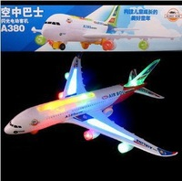 1 pcs Airbus A380 Music Lighting Airplane Toys Best Gift For Children Free shipping