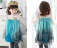 Girl cowboy flower dress, children dresses girls princess ,  4pcs/lot   TSX01