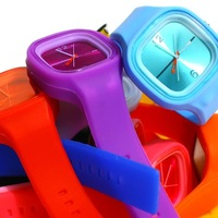 new fashion sports lovers candy color jelly quartz wristwatches for men and women,girls boys students watchs #L05150