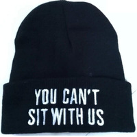 You Cant Sit With Us Unisex Beanie Unisex Hip-Hop Street Beanies Warm Winter Skullies Hat Caps