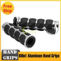 "New Mortorcycle 7/8"" Chrome Billet Aluminum Hand Grips"