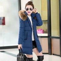Women 2014 Fashion Double Layer Long Style Winter Down Coat Fashion Slim Down Jackets