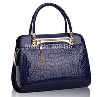 New Arrival 2014 Women Leather Handbag Crocodile Retro Bag  Leisure Bag  Casual Ladies Bag Tote Bolsas Feminina 0128A