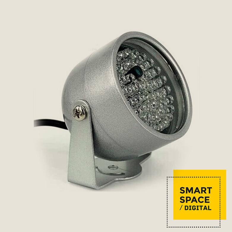 48 IR red light DC 12V 6W 10meters nightvision IR illuminator for CCTV camera IP camera(China (Mainland))