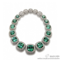 Emerald  Necklace 925 sterling silver jewelry Toparizona jewelry Dense set of exaggeration