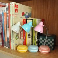 Macaron Led Table Lamp Mini LED Lamp Kawaii Bedside Lamps Reading Home Decor Gift Free Shipping