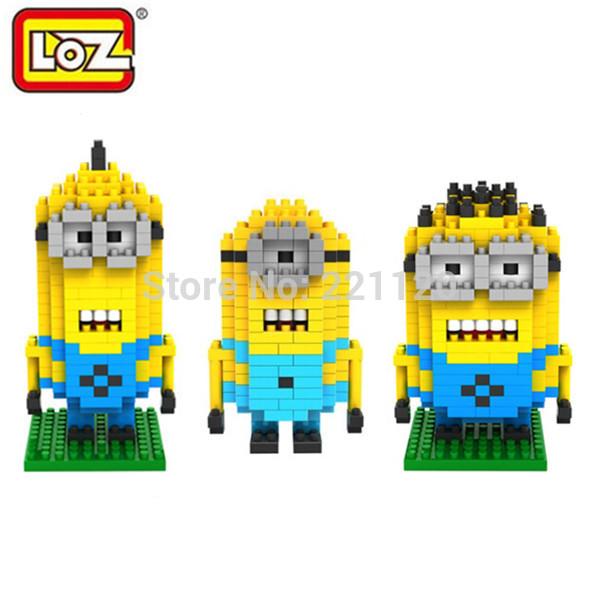 LOZ Minions Nanoblock Miniature Building Blocks Minifigure Model Block 3D Train Brick Domino Blocks Toy Despicable Me Model(China (Mainland))