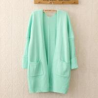 2014 Hitz Korean retro loose cardigan macarons nine points sleeve knit sweater coat women